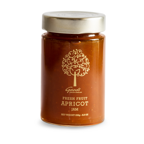 Premium Pure 85% Fresh Apricot Jam - Geodi - Superior quality apricot jam based on traditional recipes with a minimum of 85% fruit per 100gr!