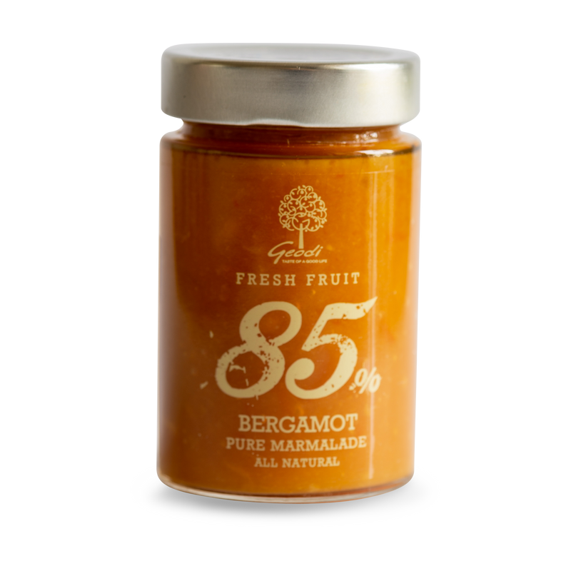 Premium Pure 85% Fresh Bergamot Marmalade - Geodi Superior quality bergamot marmalade based on traditional recipes with a minimum of 85% fruit per 100gr!