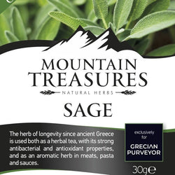 Organic dry sage from the mountains of Greece. The best dried sage in Australia by gourmet grocer Grecian Purveyor. herbal sage tea and dried sage for cooking..