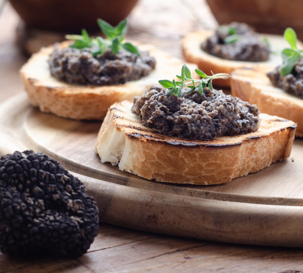 Salsa Tartufata - Black summer truffle, mushroom and Greek black olives sauce by Grecian Purveyor