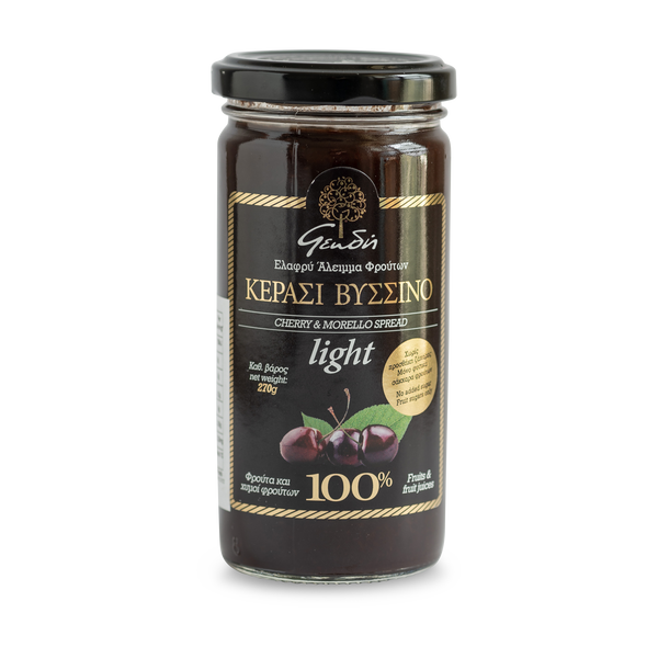 Sugar Free Morello Cherry Jam - Geodi - Superior quality jams that are made based on traditional village recipes with a minimum of 85% fruit per 100gr