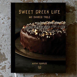 Cookbook Sweet Greek Life, My Shared Table cookbook By Kathy Tsaples. The perfect gourmet gift by Grecian Purveyor. Buy online for delivery in Sydney, Melbourne, Adelaide, Brisbane, Canberra, Tasmania and Perth.