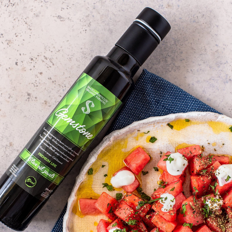 World No1 organic extra virgin olive oil - Gemstone, lime, ginger & basil