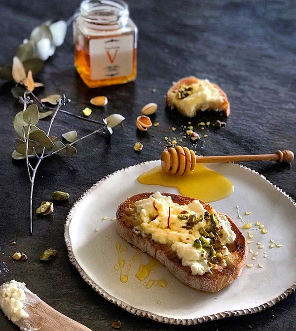 Vasilissa Wild Forest Honey With Greek Red Saffron