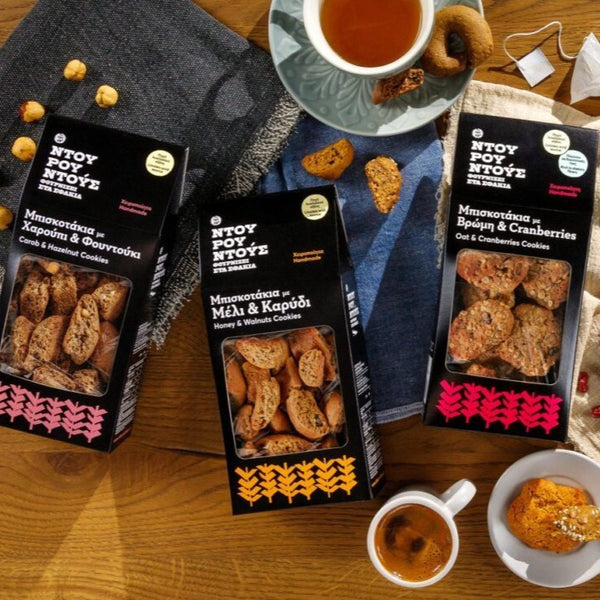 Handmade Greek honey and walnuts biscuits from Crete. Natural with no preservatives and additives. Buy online Greek sweets and biscuits in Australia, Sydney, Melbourne, Canberra, Adelaide, Perth and Brisbane. FREE DELIVERY.