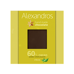 Sugar Free Handmade 60% Dark Chocolate with Stevia