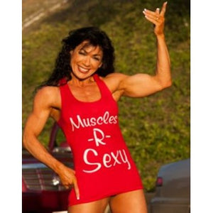 GenXLabs Muscles-R-Sexy Women Cotton T-Back Tank  (Code: 50off)