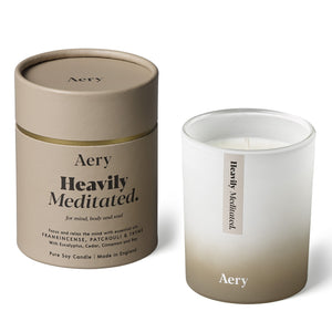 Aery Heavily Meditaded scented candle -Frankincense Patchouli Thyme - pure soy wax - made in England-