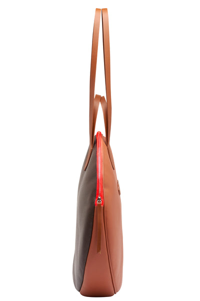 Tote Bag Grand Trianon | Tan/Dark Brown