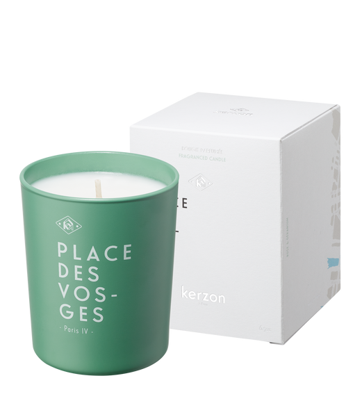 Scented Candle Place des Voges by Kerzon - created and made in Grasse, France.