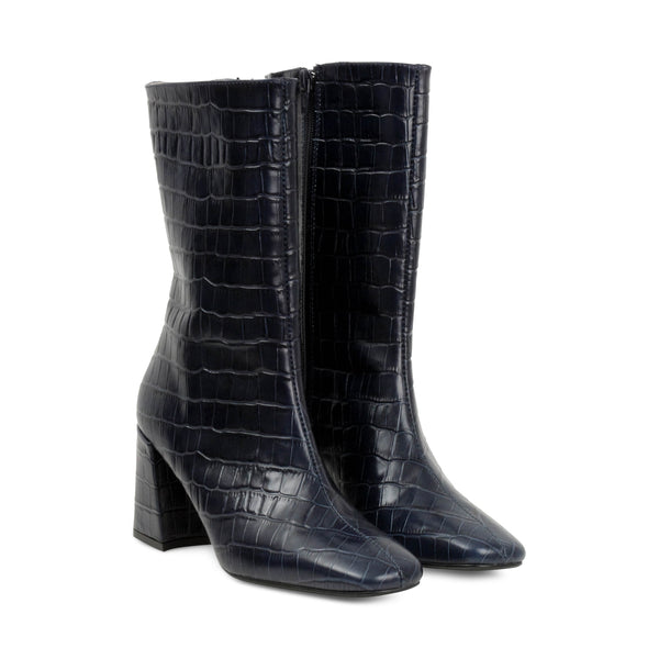 Polka Croco Leather Ankle boots - Made in Spain