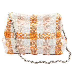 Chain Bag ''Vague'' | Orange-Light Pink