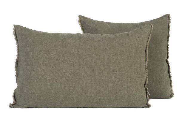 Stone Washed Linen Cushion 40cm x 60cm