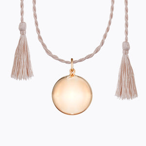 pregnancy chime necklace pink gold