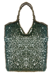 Handknitted leather Tote Bag Maria La Rosa  -  Limited Edition