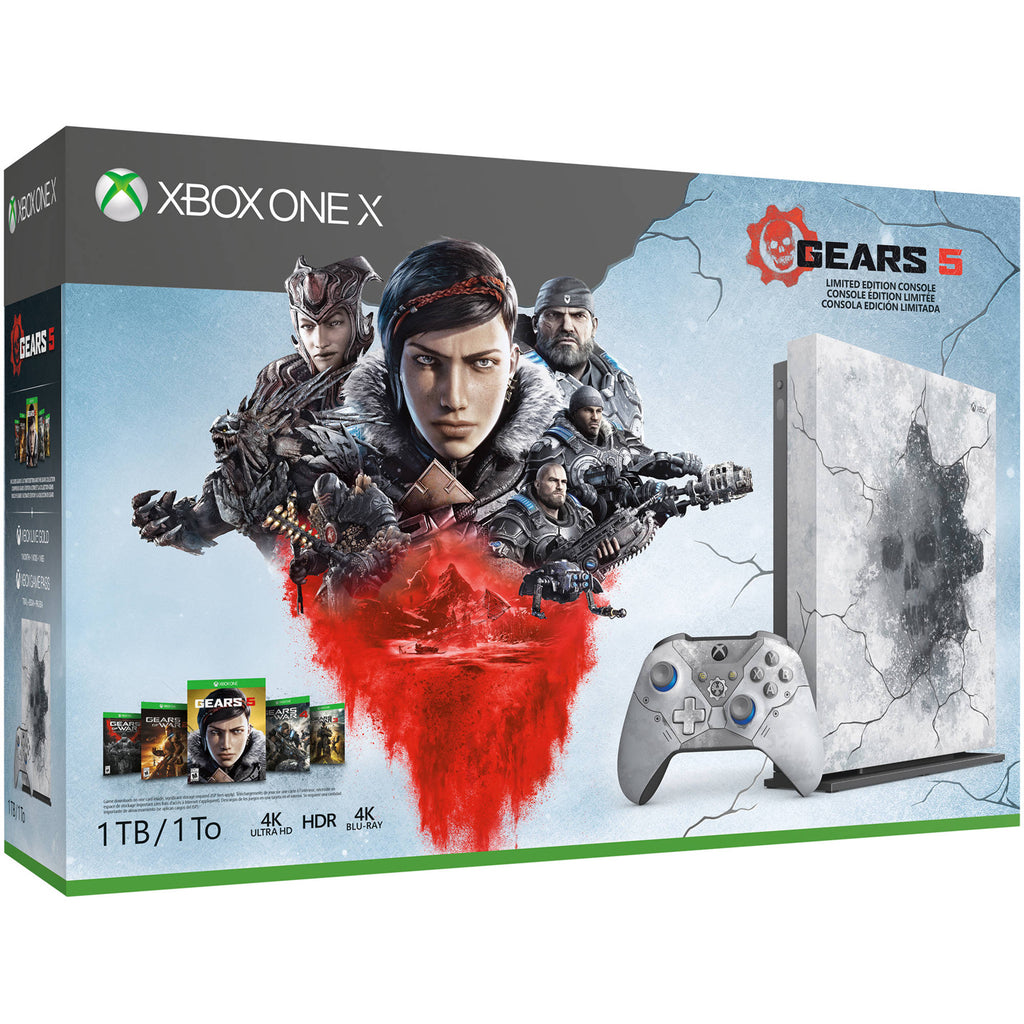 Xbox One X 1TB + Gears of Wars 5 Limited Edition - Offer Games