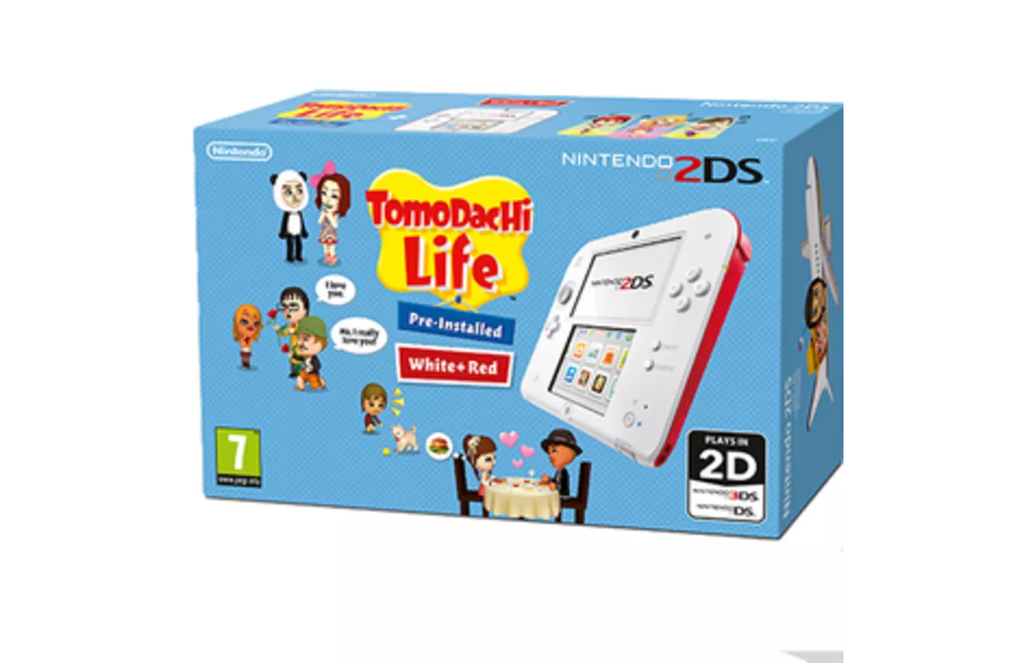Nintendo 2DS White/Red + Tomodachi Life