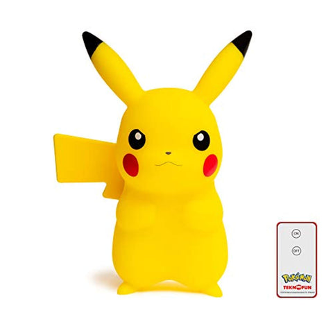 TEKNOFUN 811372 Pokemon, Pikachu Lamp with Remote Control, Yellow - Offer Games