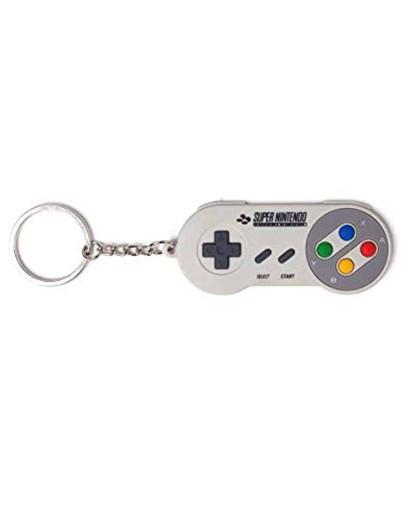 Nintendo Super Controller Rubber 3D Keychain, Grey, 16 cm - Offer Games