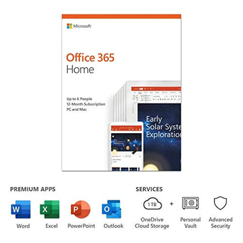 Microsoft Office 365 Home | up to 6 users | 1 year (PC/Mac Download Code)