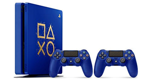 "PlayStation 4 500GB Console - Limited Edition Blue ""Days of Play"" - Offer Games"