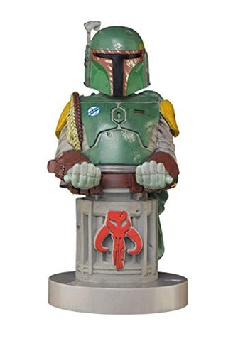 "Cable Guy, Star Wars ""Boba Fett"" Collectable gaming controller and mobile phone charging holder"" - Stands 9 -Inches/ 24cm tall (incl base) (PS4/)"