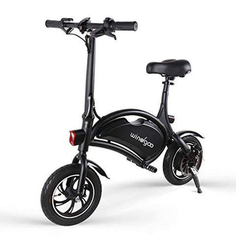 Windgoo Electric Bike, Foldable 12 inch 36V E-bike with 6.0Ah Lithium Battery, City Bicycle Max Speed 25 km/h, Disc Brake