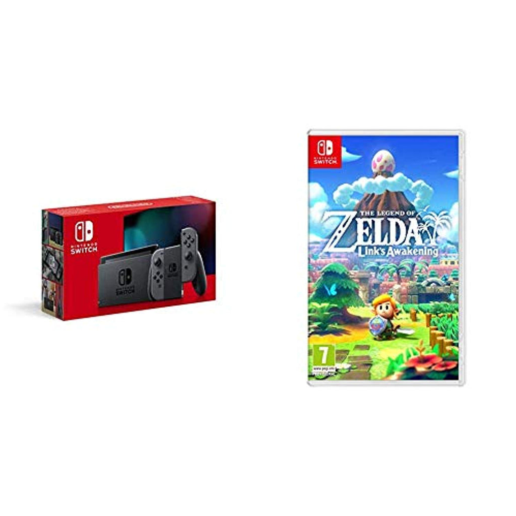 Nintendo Switch - Grey + Legend of Zelda: Links Awakening Standard Edition - Offer Games
