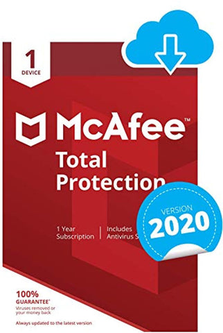 McAfee Total Protection 2020 | 1 Device | 1 Year (PC/Mac Download Code)