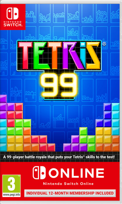 Tetris 99 + 12 Month Nintendo Online (Nintendo Switch) - Offer Games