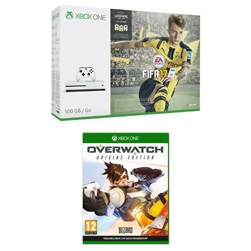 Xbox One S 500GB FIFA 17 Bundle + Overwatch - GameIN