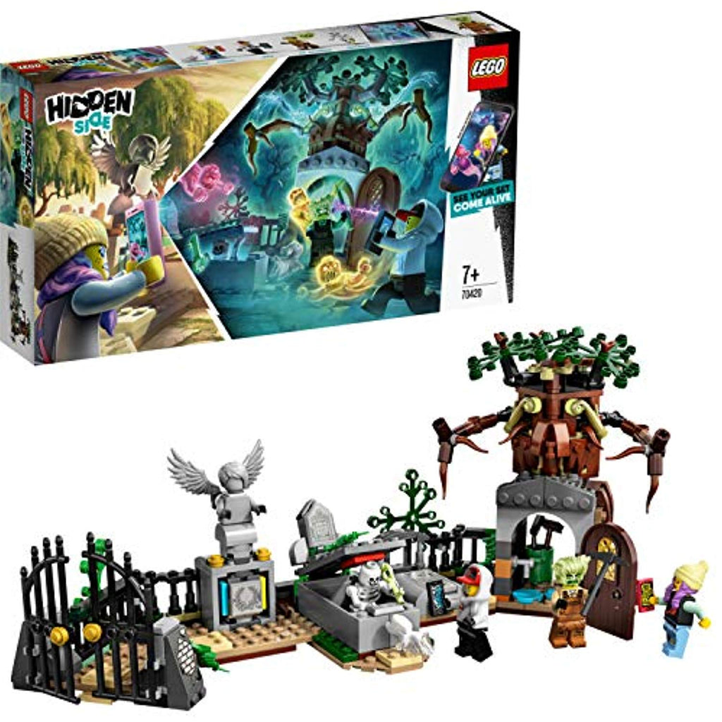 LEGO 70420 Hidden Side Graveyard Mystery Building Set, AR Games App, Interactive Augmented Reality Ghost Playset for iPhone/Android - Offer Games