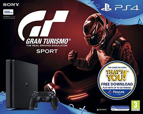 PlayStation 4 Slim 500GB with GT Sport - Offer Games