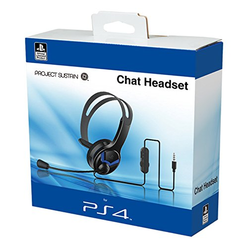 Official Licensed PS4 Wired Chat Headset Blue for PS4 - Offer Games