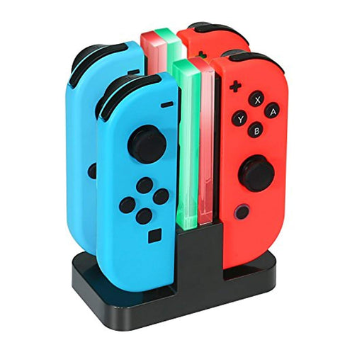 Nintendo Switch Joy-Con Charging Dock KINGTOP 4 in 1 Charger Stand and Charging Holder with Individual LED Indicator - Offer Games