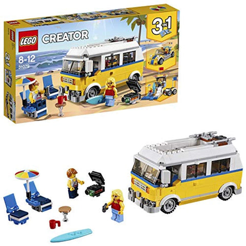 LEGO 31079 Creator 3in1 Sunshine Surfer Van Lifeguard Tower and Beach Buggy Model Building Set with Quad Bike, Toys for Kids 8 - 12 Years Old