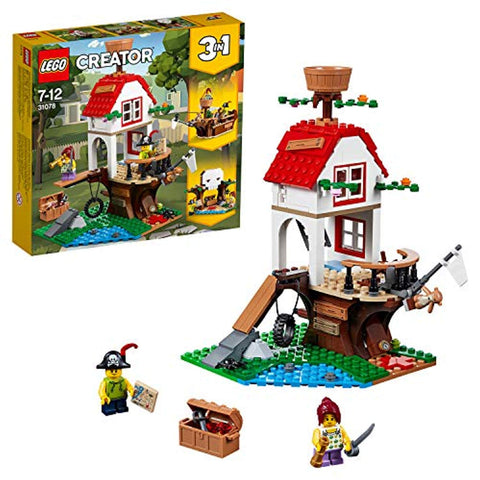 LEGO 31078 Creator Treehouse Treasures Playset, 3 in 1 Model, Toy Ship and Cave, Construction set for Kids