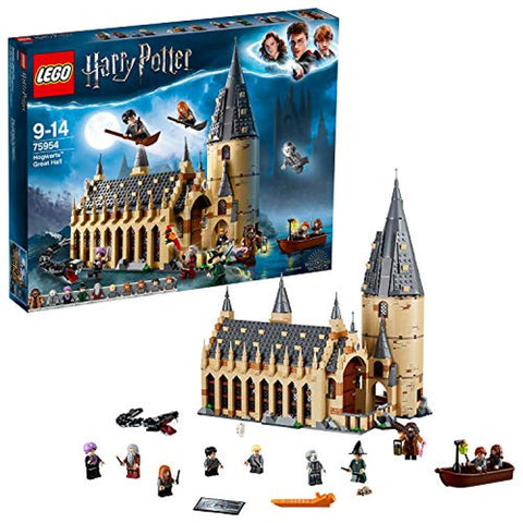 LEGO 75954 Harry Potter Hogwarts Great Hall Castle Toy, Gift Idea for Wizarding World Fan, Building Set for Kids - Offer Games