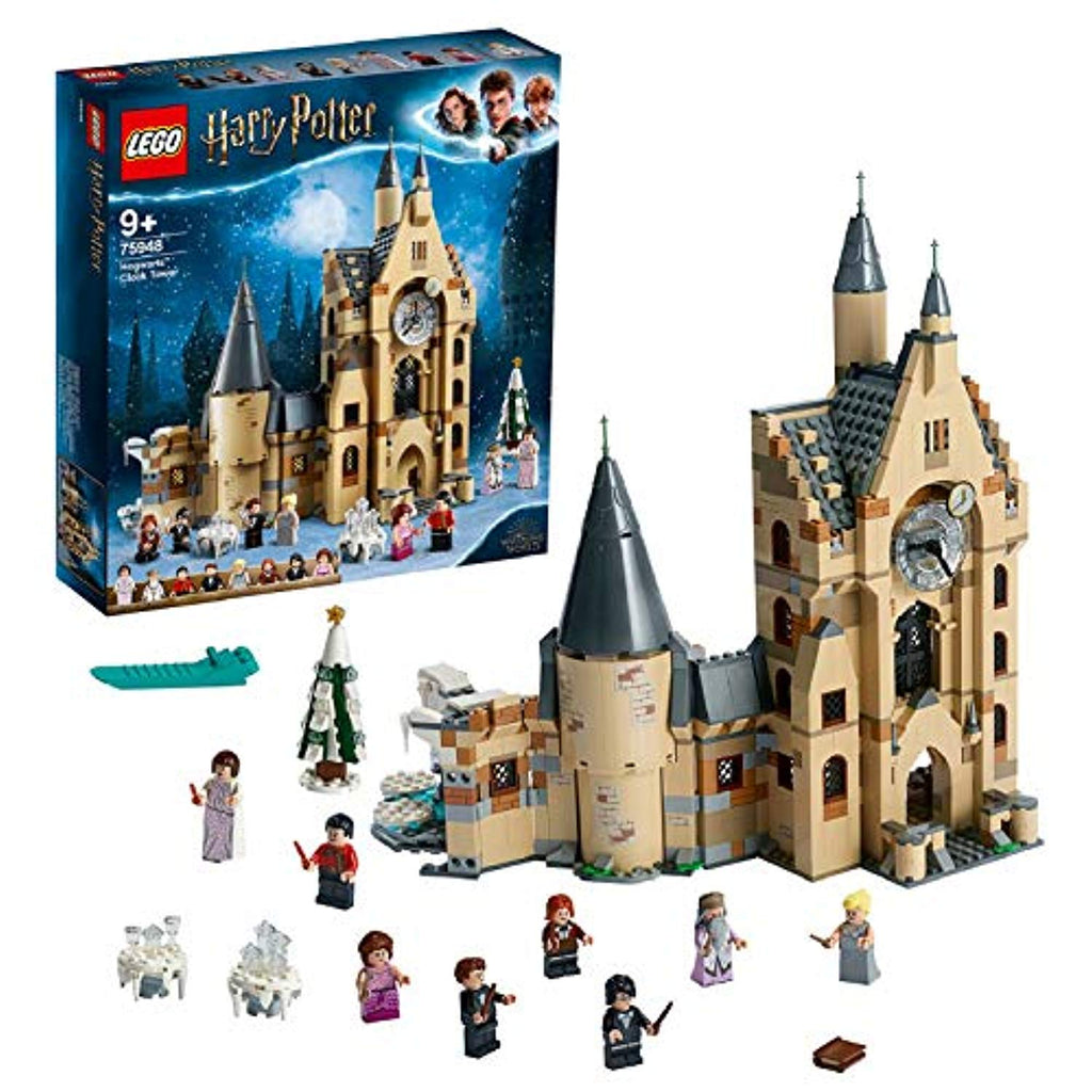 LEGO 75948 Harry Potter Hogwarts Castle Clock Tower Toy, Compatible with Great Hall and Whomping Willow Sets - Offer Games