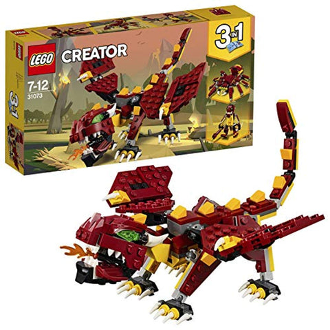 LEGO 31073 Creator 3in1 Mythical Creatures Dragon, Giant Spider and Troll Action Figures Model Building Set, Toys for Kids 7-12 Years Old - Offer Games