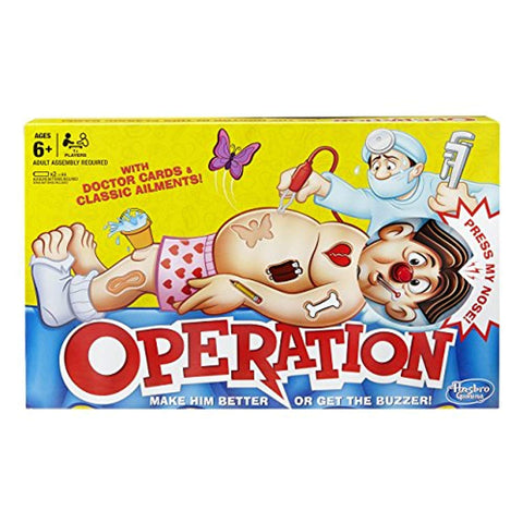 Hasbro Gaming Classic Operation Board Game