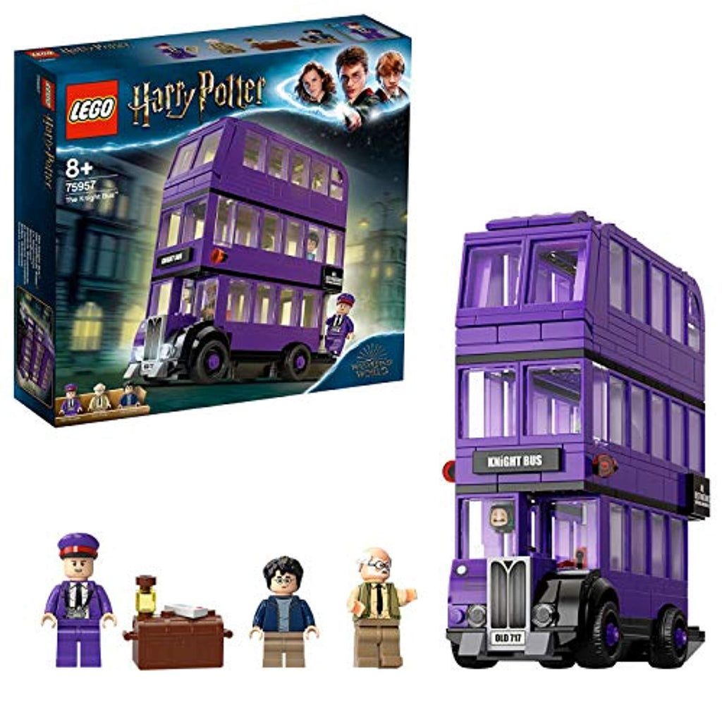 LEGO 75957 Harry Potter Knight Bus Toy, Triple-decker Collectible Set with Minifigures - Offer Games