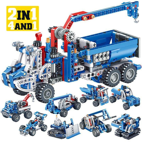 566pcs Technic Construction Building Blocks Toy - Offer Games