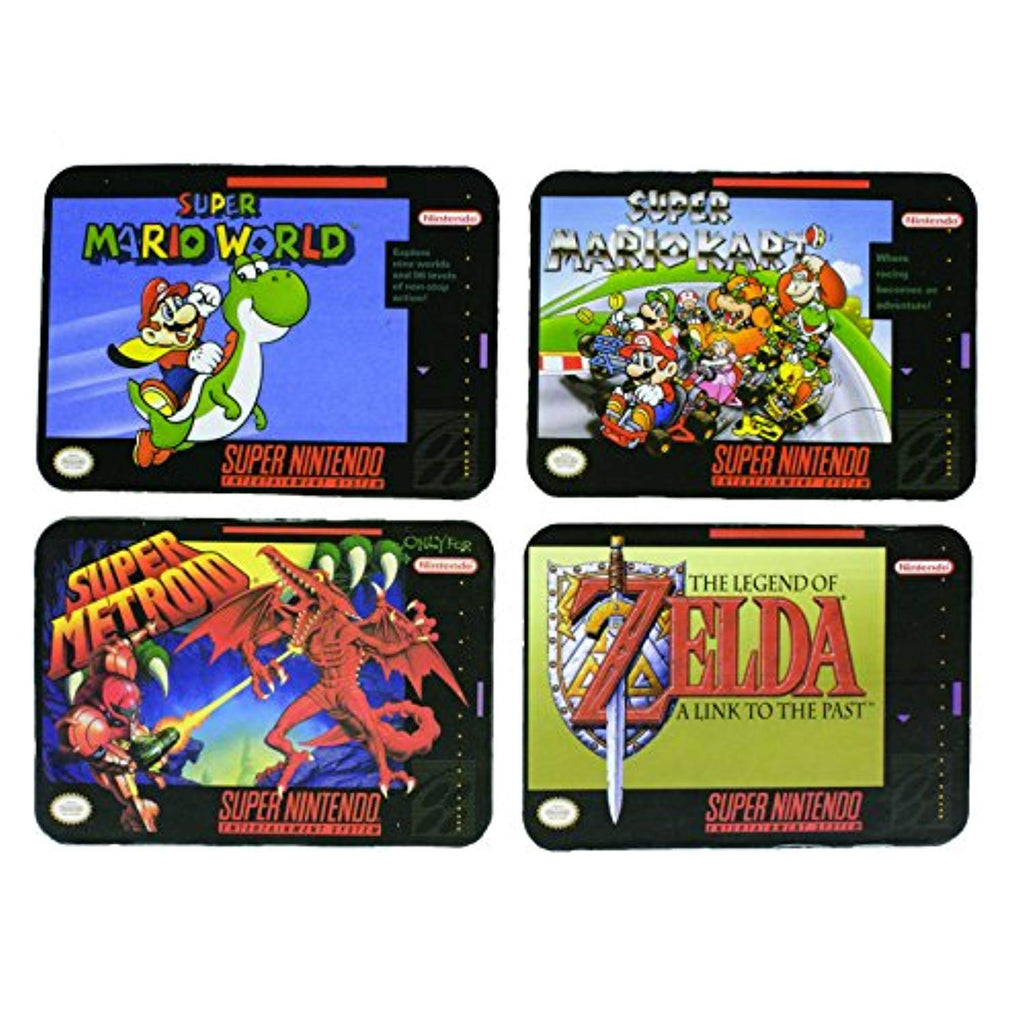 Super Nintendo Drinks Coasters - Set of 4 - Offer Games