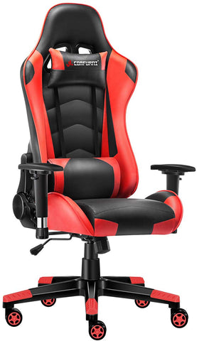 JL Comfurni Gaming Chair Ergonomic Swivel Office PC Desk Chair Computer Chairs Heavy Duty Reclining High Back with Lumbar Cushion