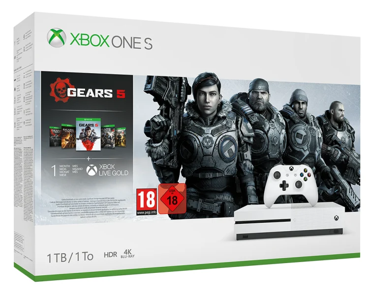 Xbox One S 1TB + Gears of Wars 5