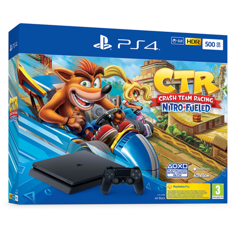 PlayStation 4 500GB + Crash Team Racing Nitro-Fueled - Offer Games
