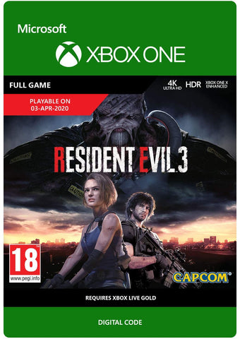 Resident Evil 3 (Xbox One Download Code)