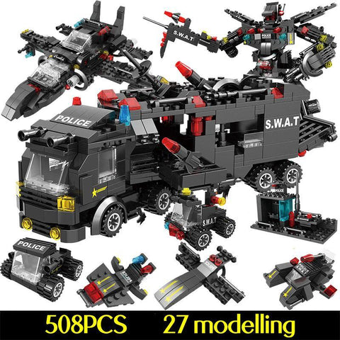 715pcs City Police Station Building Blocks Toy - Offer Games