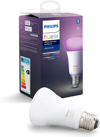 Philips Hue White and Colour Ambiance Smart Bulb Twin Pack LED [B22 Bayonet Cap] with Bluetooth, Works with Alexa and Google Assistant